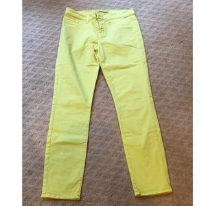 J Brand Mid-Rise Skinny Leg in Bright Chartreuse